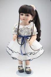 Muñecas del bjd en Línea-18 pulgadas 45cm Nueva realista Vinilo Renacido completa de la muñeca de vinilo SD BJD Muñecas del cuerpo para niñas