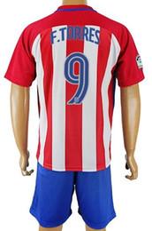 Wholesale 2016 F TORRES Custom Soccer Jersey Soccer Jerseys With Shorts SetS OLIVER Football Jerseys HERNANDEZ GRIEZMANN Soccer WEAR KITS