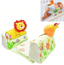 soft cute carton baby shape pillow toddler anti-rollover infant safe Anti roll pillow sleep head positioner