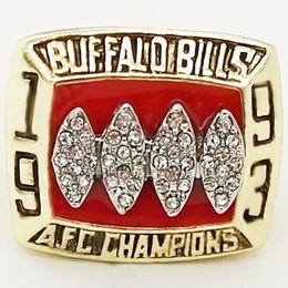 Wholesale 1993 American Football Buffalo Bill Sale Super Bowl Replica Championship ring material VIP STR0