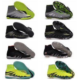 Wholesale Hypervenom Phantom JR II Neymar FG Mens Kids Boys Cleats HypervenomX Proximo IC TF NJR X Turf Football Indoor Soccer Shoes Futsal Boots
