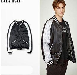 Wholesale Patchwork Men Souvenir Jackets Couple Hip Hop Baseball Jackets Mens Bombers Jackets Brand Clothing Kanye Jackets Men