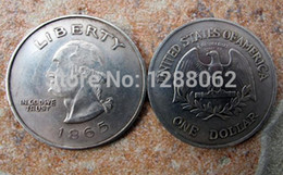 5 pcs   lot.,The USA. morgan 1865 one dollar liberty in god we trust antique silver plated American souvenir coin