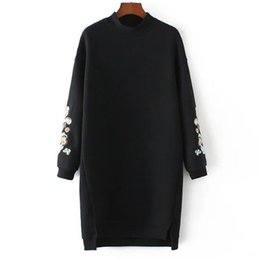 2017 autumn and winter Europe and America women's wear new style embroidered jacket of the turtleneck