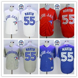 Wholesale 2016 Majestic Official Cool Base MLB Stitched th Season Toronto Blue Jays Russell Martin White BLue Red Gray Jerseys Mix Order