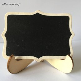 Wholesale 100 Framed Chalkboard STAND Easel Scroll Sturdy Wooden Chalk Board Rustic Wedding Menu Sign Photo Prop Table Centerpiece Easel