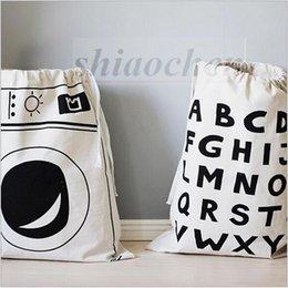 Wholesale Home baby INS clothes storage bag Kids cartoon animal toys Bags organizer batman letter bag Canvas Bags bedroom Laundry Bags handbag A34