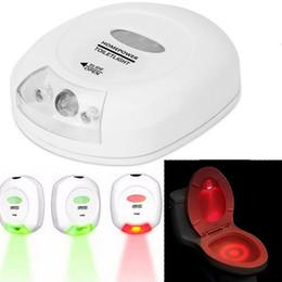 Wholesale Auto sensing LED Toilet Light Toilet Light Seat Lamp Night Motion Sensor Bowl Home Bathroom Red Green Light Lamp