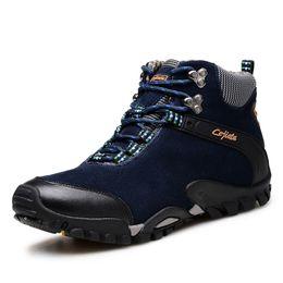 Wholesale Brand Outdoor Boots Hiking Shoes New Autumn Winter Mens Sport Cool Trekking Mountain Climbing Suede Women Boots