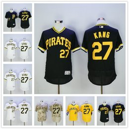 Wholesale Jung Ho Kang Jersey New Flexbase Pittsburgh Pirates Jerseys Yellow Pullover White Camo Black Grey