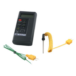 Wholesale TES1310 TES1320 K Type Contact Industrial Digital Thermocouple Thermometer with M Wire and mm Diameter Probe Surface Thermocouple