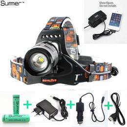 Wholesale 5000LM L2 lamp bead Headlight Zoomable led Headlamp mode zoom Head Lamp battery car EU US AU UK Plug charger USB