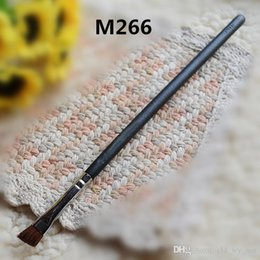 Wholesale Brand Cosmetics M266 Small Angle Brush Eyebrow brush Animal hair cosmetic brush Eyebrow brush Moderate hardness copper pipe