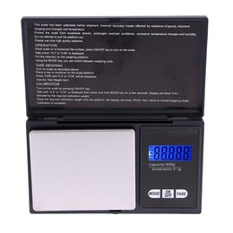 Wholesale High Accuracy Mini Electronic Digital Pocket Scale Jewelry scales with Balance Blue LCD H9631