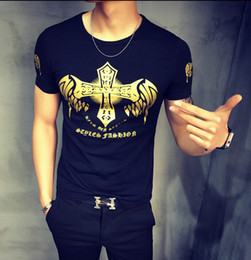 Wholesale Summer new men s short sleeved round neck printed T shirt short Dapeng tough guy style men s shirts