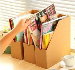 Organizadores de papel de escritorio en venta-Al por mayor (1 unidad / Venta) respetuoso del medio ambiente Papel Kraft archivo de carpetas de escritorio de oficina A4 Organizador Organizador Escritorio Documento organizador del escritorio del estante