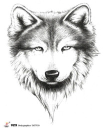 Temporary tattoos back wolf head fake transfer spray large tattoo stickers sexy body art makeup high quality health designs