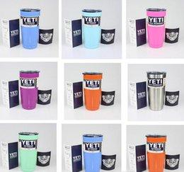 Wholesale Yeti oz Cups Cooler YETI Rambler Tumbler Travel Vehicle Beer Mug Double Wall Bilayer Vacuum Insulated Stainless Steel