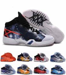 Wholesale 2016 Sale barato Retro baloncesto de los hombres zapatos de los hombres de los deportes de las zapatillas de deporte de China s XXX Hombre de la vendimia Tamaño