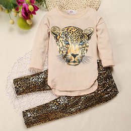 Wholesale Hot Kids Clothing Set Baby Girls Outfits Spring Autumn Suits Tiger Printed Long Sleeve Shirts Pants Set Cotton Toddler Clothes Set