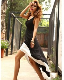 Wholesale Swallow Tail Hem - Hot Sales Casual Womens Dresses Sexy Women Lady Deep U Neck Bare Back Backless Dress Hem Tank Swallow Tail Sleeveless Summer Long Dress