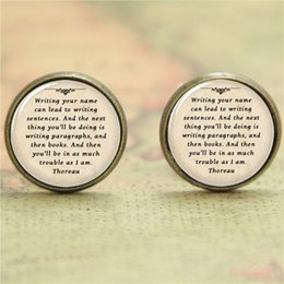 Wholesale 10pairs Thoreau earring writing your name can lead to writing sentences earring glass Photo Library Jewelry earring