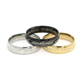 One Ring of power Gold Silver Black the Lord of rings women finger wedding band fashion jewelry accessory wholesale