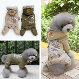 Wholesale Cool Winter Coat For Dog - 2017 Cool Locomotive drivers dog clothes The four legged coat suit for pets Thick Cotton Clothing with Stars for Small Medium Big Dog