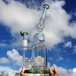 Acheter en ligne Gb pouces-Verre conduites d'eau barboteur bong plates-formes pétrolières conduites d'eau bongs percolateur barboteur pour fumer une utilisation avec 13 pouces 18mm joint mâle (ES-GB-051-2)
