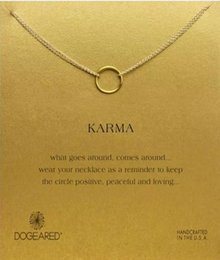 Dogeared Necklace with one circle pendant(karma), noble and delicate, no fade, free shipping and high quality.