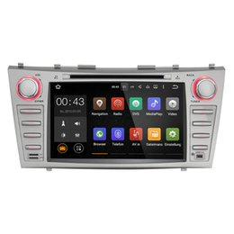Wholesale Joyous Double Din Quad Core quot Android Car DVD Player GPS Navigation For Toyota Camry HD Head Unit Car Stereo