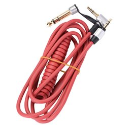 Wholesale Black Red mm mm Spring Replacement Audio Cable Headphone for Monster Beat Pro Detox Solo AUX Cable