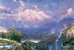 Wholesale Christmas Gift Twilight Vista by Thomas Kinkade oil painting reproduction High quality Handmade