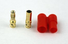 Wholesale 10 pair mm Gold Banana Connector with Protector Cover RC Battery connector locking connector utp