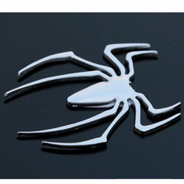 Wholesale On sale quality metal spider sticker car styling DIY accessories exterior auto parts decoration for body tail