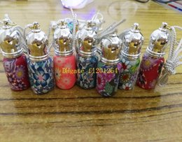 100pcs lot Free Shipping Wholesale 3ML Polymer clay perfume bottles Empty Roller ball bottle Car Pendant