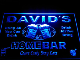 Wholesale DZ001 b Name Personalized Home Bar Beer Family Name Neon Light Sign
