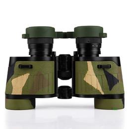 Hd militar en venta-Binoculares del camuflaje del lobo 8x32 de BIJIA Zoom Ópticos Militares del telescopio de los binoculares de la película verde para la caza al aire libre Etc Envío libre