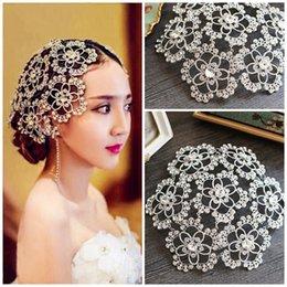 Designer Wedding Bridal Headpiece Crystal Rhinestone Flower Hair Accessories Tiara Headband Crown Queen Princess Hair Jewelry Prom Favor
