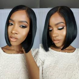 Short Bob Wig Glueless Full Lace Human Hair Wigs Straight Bob Lace Front Wig Brazilian Human Hair Silk Top Wigs