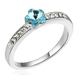 Wedding Engagement Rings For Women 2019 Fashion Jewelry Embellished With Crystals From Swarovski Elements Ring Fashion Brand 12885