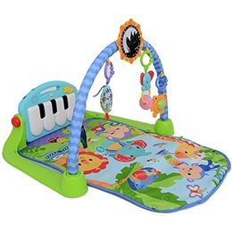 [New arrival] [Hot sale] Fisher Price foot fitness cincin new music piano baby gym table good playing
