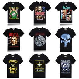 Wholesale 2016 Summer Fashion John Cena The Beatles D Printed T Shirt Men Cotton Short Sleeve T shirts Casual Black Tee Shirts Mens Hip Hop Tops