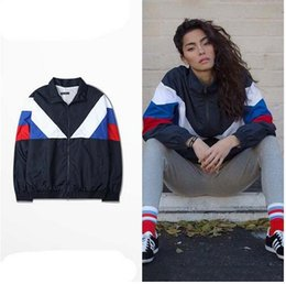 Wholesale Gosha Rubchinskiy jackets men Harajuku sweatshirts mens Splice sport skateboard Flag trasher jackets hoodies yeezy3 retrol couple clothing