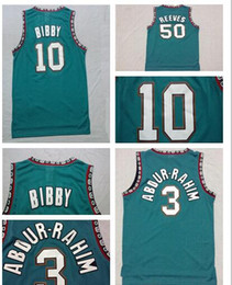 Wholesale Vancouver Mike Bibby Bryant Reeves Shareef Double Stitched Mesh Vintage Jersey Shirts Best Quality