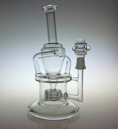 Wholesale New arrival Wake Bake New Bongs Glass oil rigs incycler water pipes with matrix stereo perc and mm joint
