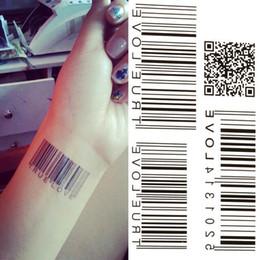Transfert d'eau autocollants de tatouage en Ligne-Gros-2016 BarCode nouveau transfert d'eau Livraison gratuite étanche tatouage temporaire autocollant Body Art Sexy Produit