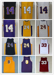 Wholesale 2016 New Draft Player Men s Basketball Jerseys LA Embroidery Yellow Purple White Black Jerseys Stitched Name and Number