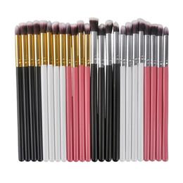 Eyeshadow Brushes Set Professional Man-made Fiber Hair Make Up Eye Makeup Brush Tool Cosmetic Kit with Gold  Silver Tube 4pcs set