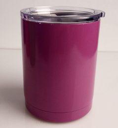 Acheter en ligne Eaux fraîches-Multi-couleur YETI rambler gobelets Cooler Yeti Lowball 10 oz en acier inoxydable Rambler bouteille d'eau Yeti Coolers Mug